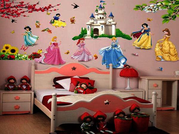 کاغذ اتاق خواب دخترانه