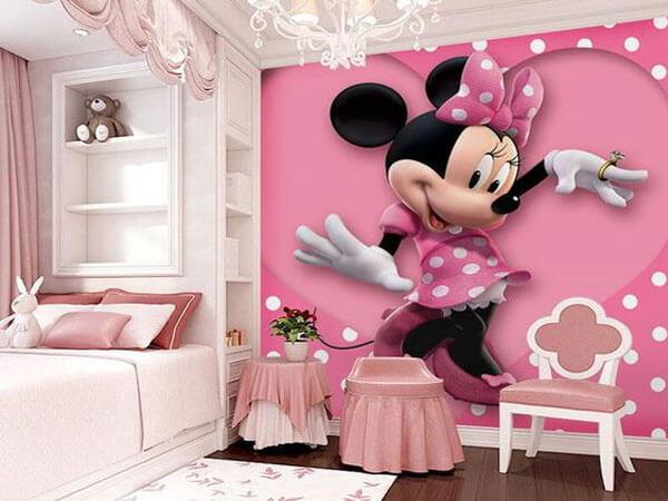 طراحی اتاق دختر با تم صورتی