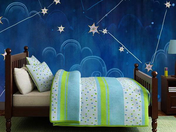 کاغذ دیواری اتاق کودک با طرح های آرامش بخش