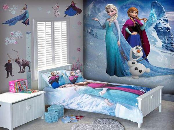 طراحی اتاق دخترانه با تم رنگ آبی