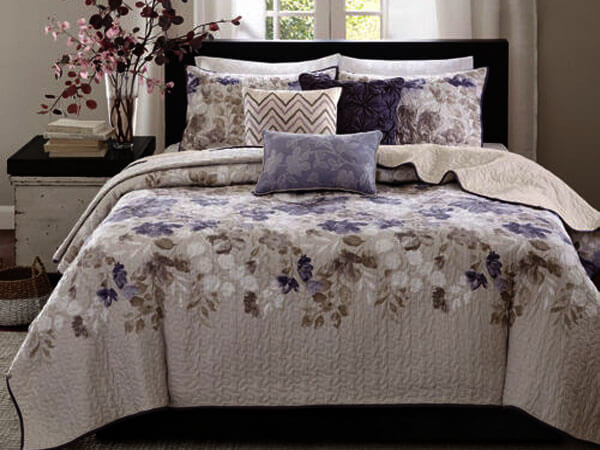 طراحی اتاق خواب رنگ ایده آل برای رو تختی
