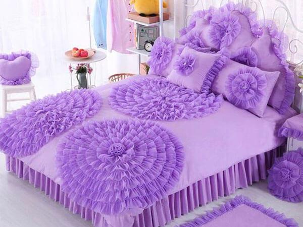 رو تختی عروس رنگ ایده آل برای رو تختی شیک و زیبا