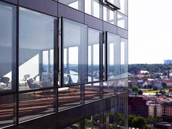 نمای شیشه ای سرعت بالای اجرای نمای کراتین وال