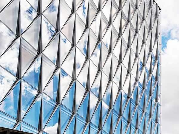 نمای ساختمان سرعت بالای اجرای نمای کراتین وال فوق العاده شیک با بهترین کیفیت طراحی