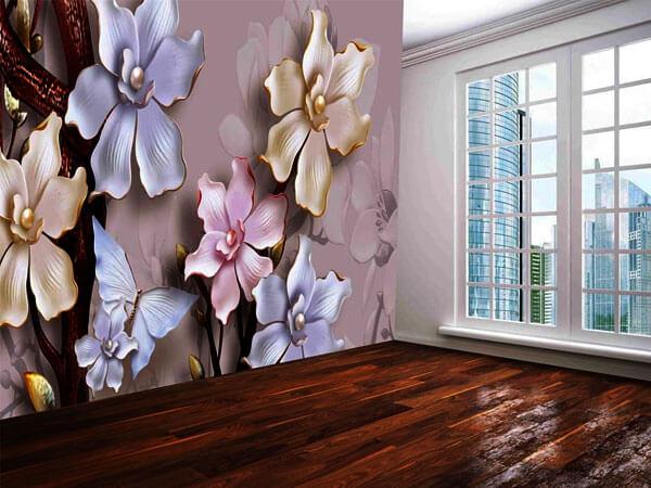 پوستر دیواری با طرح گل