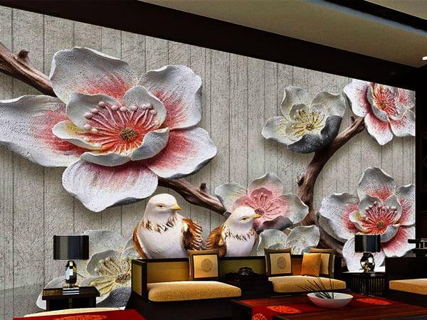 پوستر دیواری با طرح گل شیک و زیبا