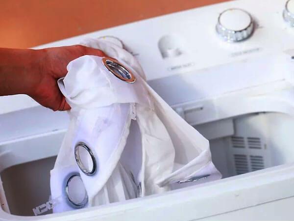 شستشوی پرده با ماشین لباسشویی
