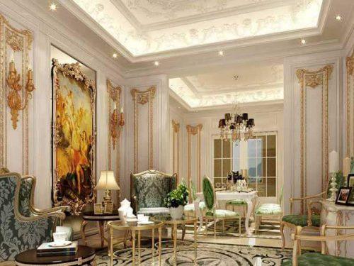 طراحی داخلی پذیرایی به سبک شیک و کلاسیک