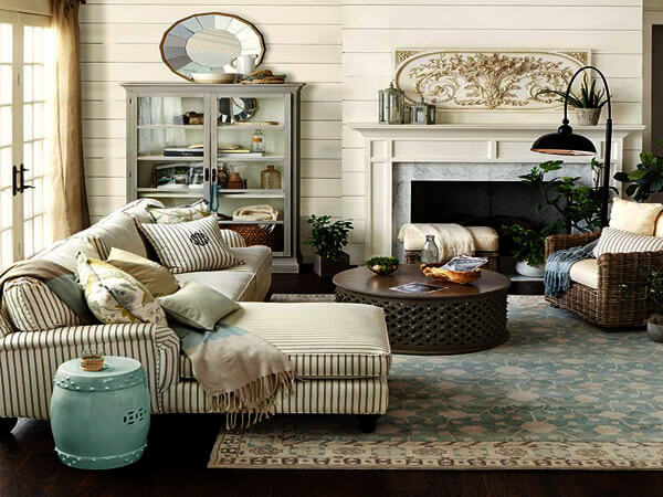 طراحی دکور سالن پذیرایی 3)انتخاب فرش مناسب