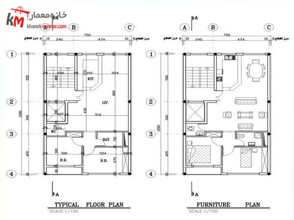 نقشه ساختمان در طراحی های حرفه ای و متنوع با بهترین کیفیت ممکن