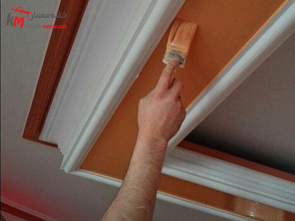 تاثیر رنگ آمیزی سقف در طراحی داخلی