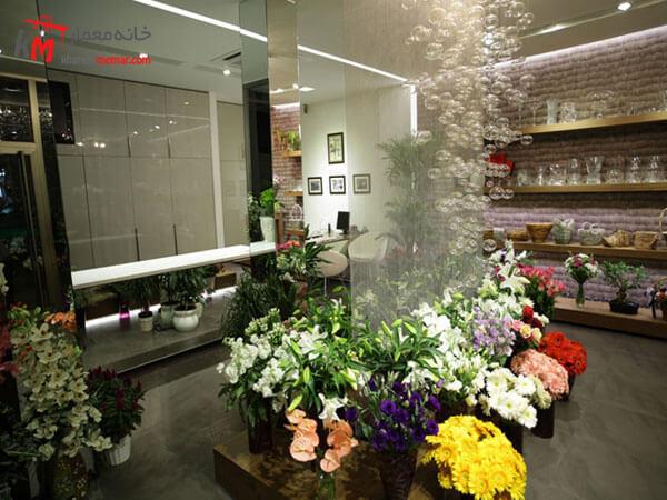 ایده های طراحی داخلی گل فروشی