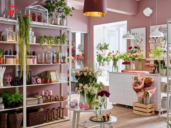 طراحی داخلی گل فروشی