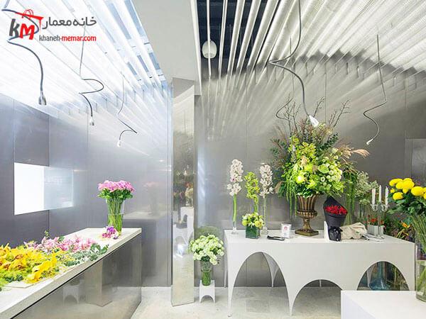 نکات مهم در طراحی نما و دکوراسیون مغازه گل فروشی