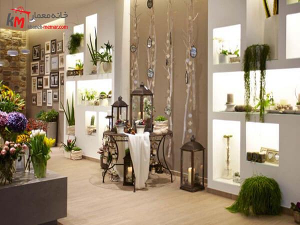 طراحی داخلی کانکس گل فروشی
