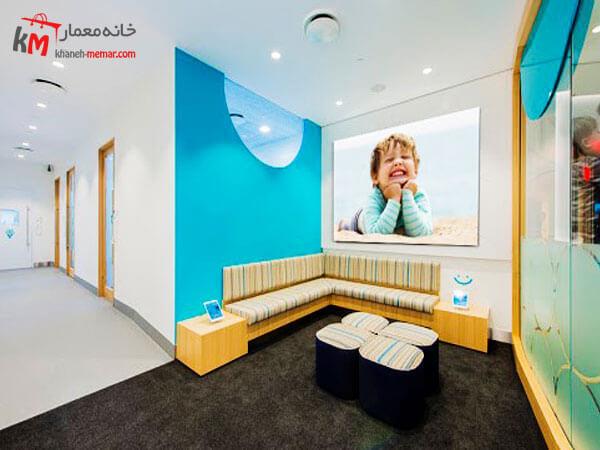 طراحی داخلی مطب با پلان باز