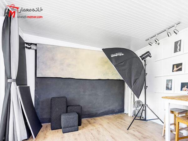 طراحی دکوراسیون داخلی آتلیه عکاسی بهترین ایده ها جهت عکس برداری