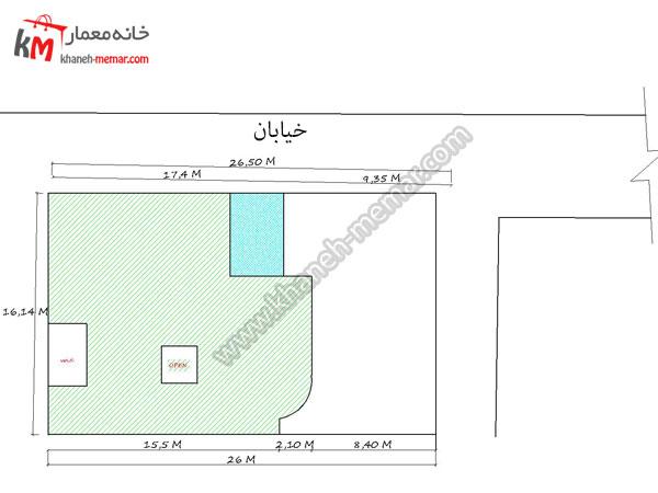 نقشه خانه 3 خوابه