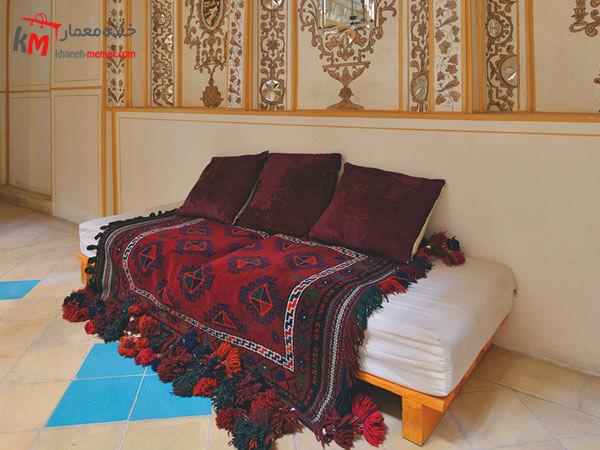 تزیین خانه با گلیم دستباف استفاده از لوازم دکوری ایرانی