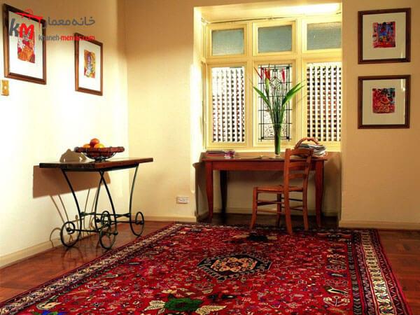 استفاده از فرش در دکور منزل عناصر ثابت اتاق پذیرایی ایرانی