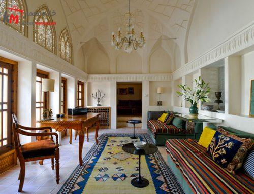 طراحی زیبای دکوراسیون داخلی پذیرایی ایرانی
