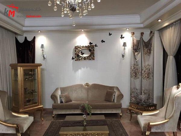 طراحی داخلی پذیرایی استفاده از لوازم دکوری ایرانی شیک و زیبا