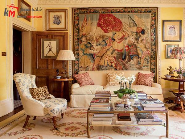 استفاده از تابلو فرش ایرانی