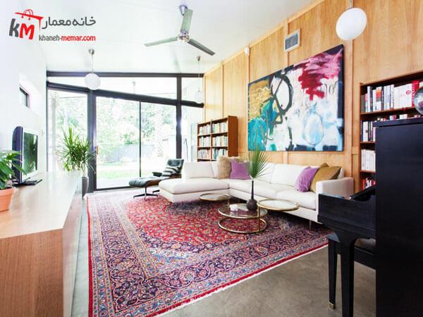 خانه ایی کاملا سنتی و ایرانی استفاده از لوازم دکوری ایرانی