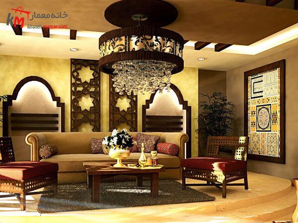 دکورداخلی با طراحی سنتی ایرانی استفاده از لوازم دکوری ایرانی