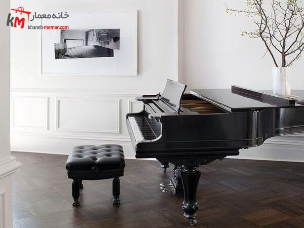 پیانو عاملی جذاب در دکوراسیون پیانو های کوچک