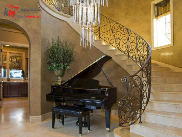 پیانو در دکوراسیون پذیرایی پیانو یک عامل فضا پر کن در دکوراسیون