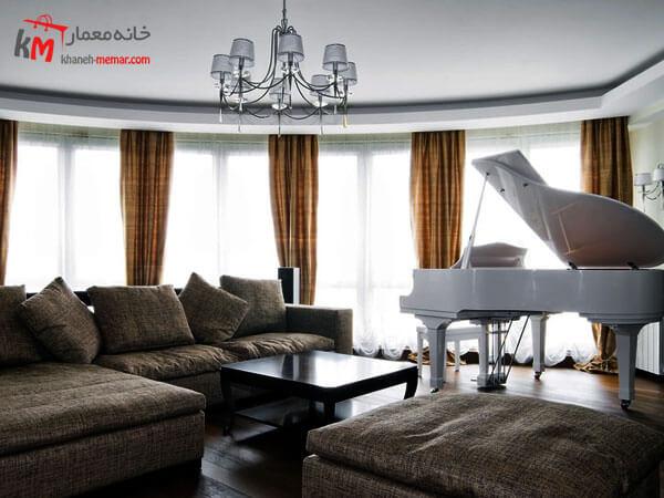 فضاهای دارای پنجره زیاد مناسب برای پیانو جذابیت پیانو در دکوراسیون با افزایش خطوط