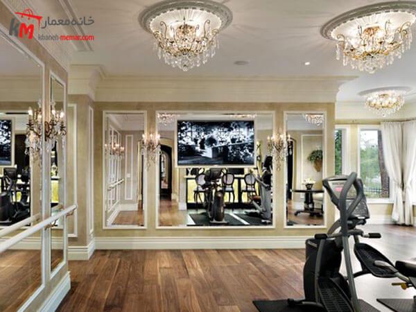 نورپردازی مناسب در فضا اجرای نورپردازی مناسب در طراحی داخلی باشگاه