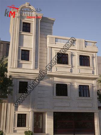 نمای پلان خانه دوبلکس به سبک کلاسیک