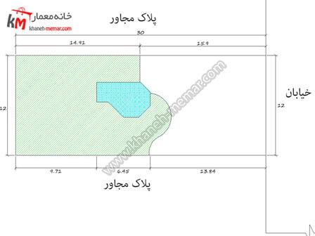 نقشه ساختمان یک طبقه ویلایی