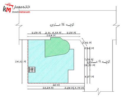 سایت پلان نقشه خانه چهار خوابه دوبلکس