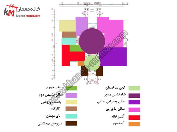 ریز فضاهای سایت پلان نقشه ویلایی شیک و لاکچری پروژه 848 پروژه 848 طبقه همکف