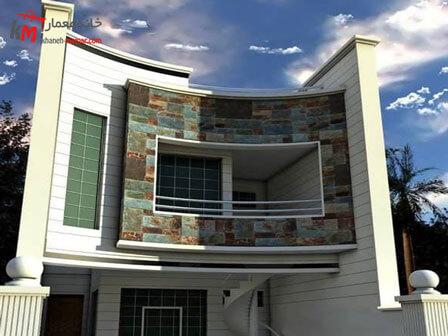 نمای ساختمان ترکیب دو رنگ سرامیک تنوع زیاد در طرح سرامیک