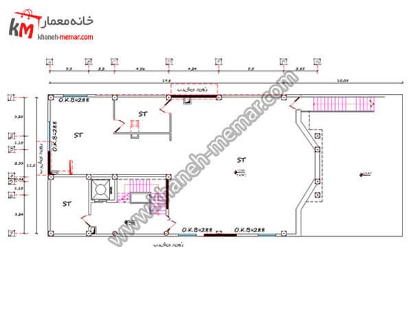 ریز فضاهای پروژه 670