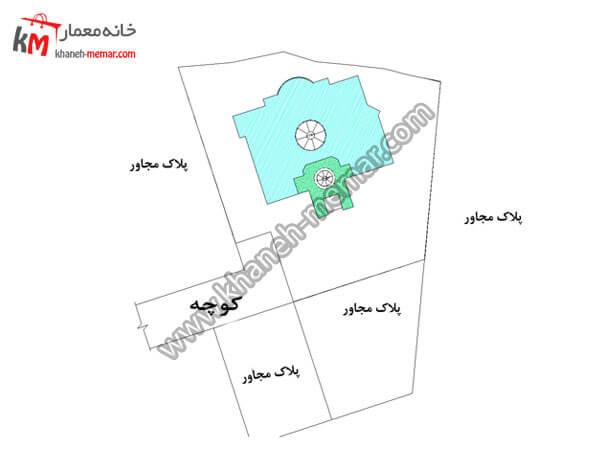 سایت پلان نقشه ویلایی شیک و لاکچری پروژه 848