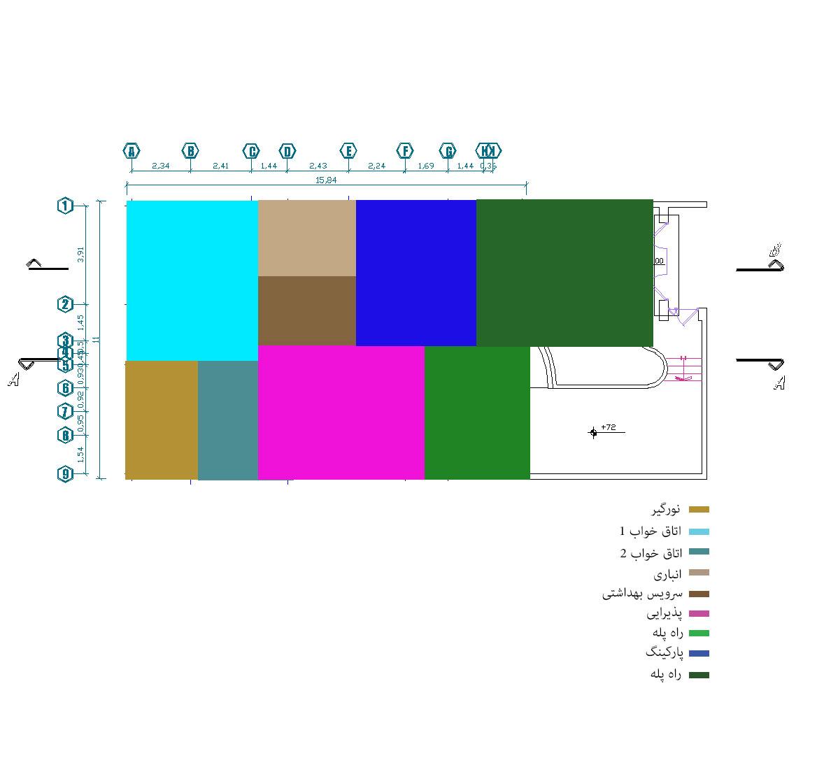 سایت پلان نقشه ساختمان ویلای دوبلکس