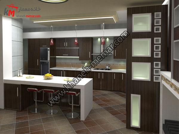 طراحی دکوراسیون داخلی اشپزخانه