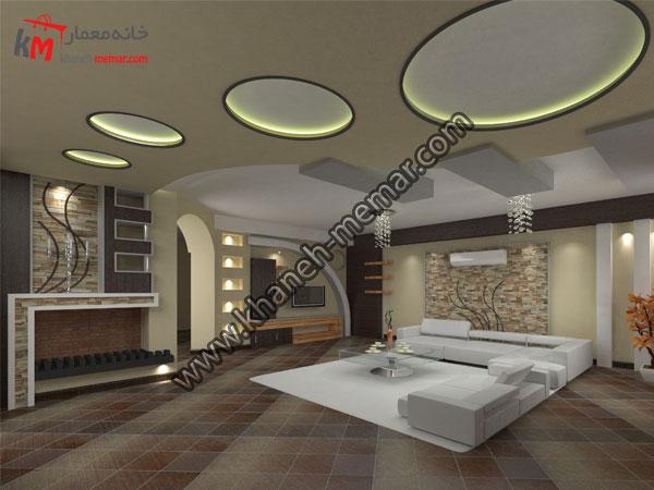 دکوراسیون داخلی و نورپردازی سقف