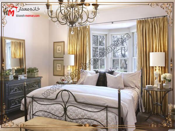 لوستر فلزی برای اتاق خواب