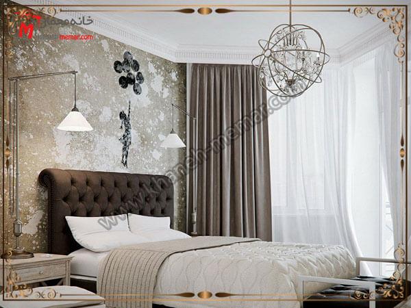 لوستر اتاق خواب مدل فلزی