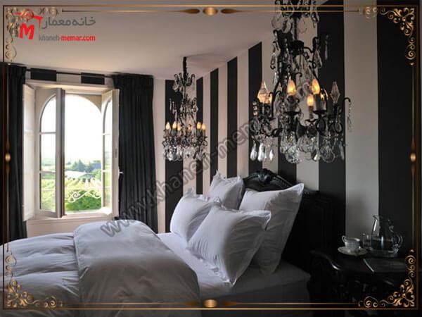 لوستر اتاق خواب مدل کریستالی