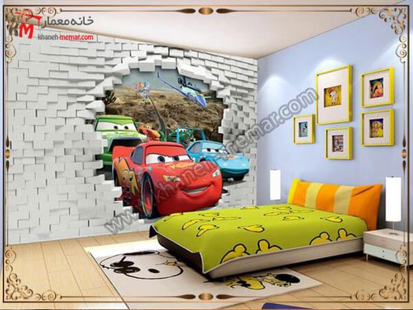 کاغذ تزیینی دیواری سه بعدی برای اتاق خواب کودک کاغذ دیواری اتاق خواب کودک