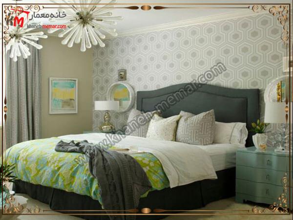 استفاده از رنگ روشن برای دکور اتاق خواب کاغذ دیواری اتاق خواب بزرگسال