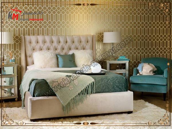 تزییین زیبای پشت تخت خواب مدل های شیک و منحصر به فرد کاغذ دیواری اتاق خواب