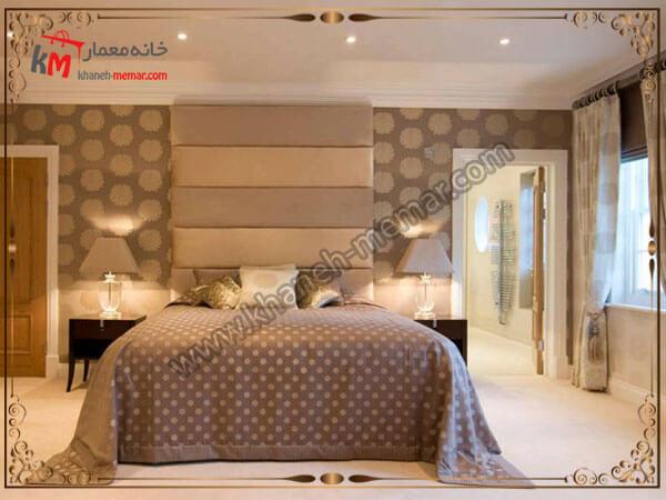 دو مدل کاغذ دیواری کار شده بر روی دیوار مدل های شیک و منحصر به فرد کاغذ دیواری اتاق خواب